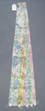 Onondaga Silk Company, Inc. (1925-1981). <em>Textile Swatches</em>, 1948-1959. Silk, a-e: 40 x 3 1/2 in. (101.6 x 8.9 cm). Brooklyn Museum, Gift of the Onondaga Silk Company, 64.130.192a-e (Photo: Brooklyn Museum, CUR.64.130.192a-e.jpg)
