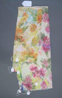 Onondaga Silk Company, Inc. (1925-1981). <em>Textile Swatches</em>, 1948-1959. Silk, a-f: 23 3/4 x 8 1/2 in. (60.3 x 21.6 cm). Brooklyn Museum, Gift of the Onondaga Silk Company, 64.130.195a-f (Photo: Brooklyn Museum, CUR.64.130.195a-f.jpg)