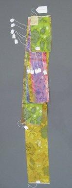 Onondaga Silk Company, Inc. (1925-1981). <em>Textile Swatches</em>, 1948-1959. Silk, largest fragment of a-m: 41 3/4 x 6 in. (106 x 15.2 cm). Brooklyn Museum, Gift of the Onondaga Silk Company, 64.130.196a-m (Photo: Brooklyn Museum, CUR.64.130.196a-m.jpg)