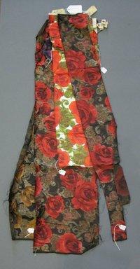 Onondaga Silk Company, Inc. (1925-1981). <em>Textile Swatches</em>, 1948-1959. Silk, largest fragment of a-g: 41 x 10 1/2 in. (104.1 x 26.7 cm). Brooklyn Museum, Gift of the Onondaga Silk Company, 64.130.197a-g (Photo: Brooklyn Museum, CUR.64.130.197a-g.jpg)