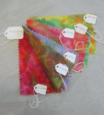 Onondaga Silk Company, Inc. (1925-1981). <em>Textile Swatches</em>, 1948-1959. Silk, a-f: 5 1/2 x 3 1/2 in. (14 x 8.9 cm). Brooklyn Museum, Gift of the Onondaga Silk Company, 64.130.198a-f (Photo: Brooklyn Museum, CUR.64.130.198a-f.jpg)