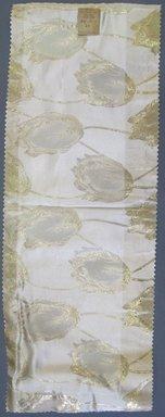 Onondaga Silk Company, Inc. (1925-1981). <em>Textile Swatches</em>, 1948-1959. silk; metal, 22 1/2 x 8 1/2 in. (57.2 x 21.6 cm). Brooklyn Museum, Gift of the Onondaga Silk Company, 64.130.20 (Photo: Brooklyn Museum, CUR.64.130.20.jpg)