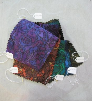Onondaga Silk Company, Inc. (1925-1981). <em>Textile Swatches</em>, 1948-1959. Silk, a-e: 8 x 5 in. (20.3 x 12.7 cm). Brooklyn Museum, Gift of the Onondaga Silk Company, 64.130.200a-e (Photo: Brooklyn Museum, CUR.64.130.200a-e.jpg)