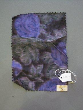 Onondaga Silk Company, Inc. (1925-1981). <em>Textile Swatches</em>, 1948-1959. Silk, 7 1/4 x 5 in. (18.4 x 12.7 cm). Brooklyn Museum, Gift of the Onondaga Silk Company, 64.130.202 (Photo: Brooklyn Museum, CUR.64.130.202.jpg)