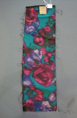 Onondaga Silk Company, Inc. (1925-1981). <em>Textile Swatches</em>, 1948-1959. Silk, 18 x 5 1/2 in. (45.7 x 14 cm). Brooklyn Museum, Gift of the Onondaga Silk Company, 64.130.205 (Photo: Brooklyn Museum, CUR.64.130.205.jpg)
