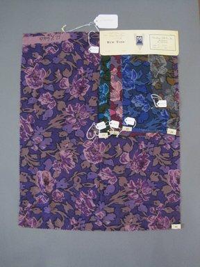 Onondaga Silk Company, Inc. (1925-1981). <em>Textile Swatches</em>, 1948-1959. Wool blend, a: 22 x 17 1/2 in. (55.9 x 44.5 cm). Brooklyn Museum, Gift of the Onondaga Silk Company, 64.130.217a-e (Photo: Brooklyn Museum, CUR.64.130.217a-e.jpg)