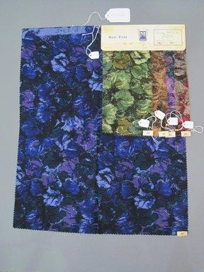 Onondaga Silk Company, Inc. (1925-1981). <em>Textile Swatches</em>, 1948-1959. Wool blend, a: 22 x 17 1/2 in. (55.9 x 44.5 cm). Brooklyn Museum, Gift of the Onondaga Silk Company, 64.130.222a-e (Photo: Brooklyn Museum, CUR.64.130.222a-e.jpg)