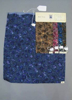 Onondaga Silk Company, Inc. (1925-1981). <em>Textile Swatches</em>, 1948-1959. Wool blend, a: 20 1/4 x 17 1/2 in. (51.4 x 44.5 cm). Brooklyn Museum, Gift of the Onondaga Silk Company, 64.130.223a-e (Photo: Brooklyn Museum, CUR.64.130.223a-e.jpg)
