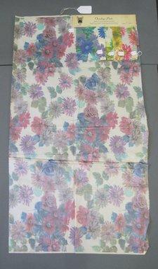 Onondaga Silk Company, Inc. (1925-1981). <em>Textile Swatches</em>, 1948-1959. Silk, a: 42 1/4 x 23 in. (107.3 x 58.4 cm). Brooklyn Museum, Gift of the Onondaga Silk Company, 64.130.237a-e (Photo: Brooklyn Museum, CUR.64.130.237a-e.jpg)