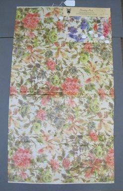 Onondaga Silk Company, Inc. (1925-1981). <em>Textile Swatches</em>, 1948-1959. Silk, a: 42 1/2 x 24 in. (108 x 61 cm). Brooklyn Museum, Gift of the Onondaga Silk Company, 64.130.241a-f (Photo: Brooklyn Museum, CUR.64.130.241a-f.jpg)