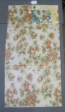Onondaga Silk Company, Inc. (1925-1981). <em>Textile Swatches</em>, 1948-1959. Silk, a: 42 3/4 x 22 1/4 in. (108.6 x 56.5 cm). Brooklyn Museum, Gift of the Onondaga Silk Company, 64.130.244a-e (Photo: Brooklyn Museum, CUR.64.130.244a-e.jpg)
