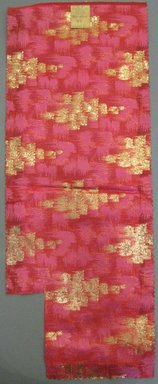 Onondaga Silk Company, Inc. (1925-1981). <em>Textile Swatches</em>, 1948-1959. silk; metal, 22 1/2 x 8 1/2 in. (57.2 x 21.6 cm). Brooklyn Museum, Gift of the Onondaga Silk Company, 64.130.25 (Photo: Brooklyn Museum, CUR.64.130.25.jpg)