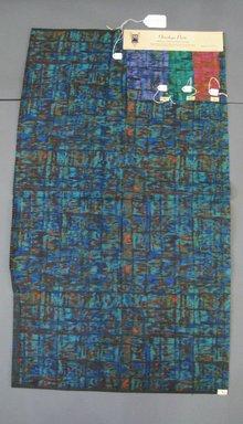 Onondaga Silk Company, Inc. (1925-1981). <em>Textile Swatches</em>, 1948-1959. Silk, a: 41 x 23 3/4 in. (104.1 x 60.3 cm). Brooklyn Museum, Gift of the Onondaga Silk Company, 64.130.254a-d (Photo: Brooklyn Museum, CUR.64.130.254a-d.jpg)