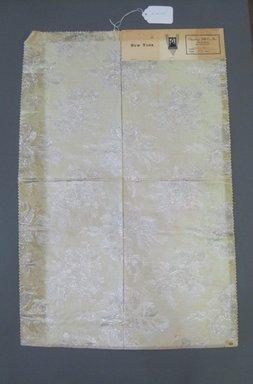 Onondaga Silk Company, Inc. (1925-1981). <em>Textile Swatches</em>, 1948-1959. 72% acetate, 16% rayon, 12% metal, 27 x 18 in. (68.6 x 45.7 cm). Brooklyn Museum, Gift of the Onondaga Silk Company, 64.130.269 (Photo: Brooklyn Museum, CUR.64.130.269.jpg)