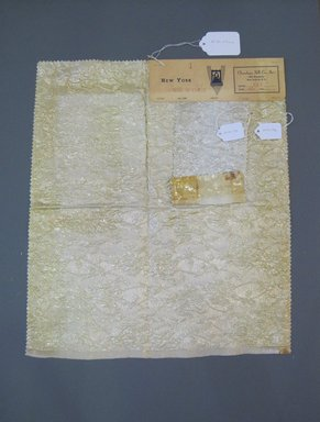 Onondaga Silk Company, Inc. (1925-1981). <em>Textile Swatches</em>, 1948-1959. Silk, synthetic, and metal yarns, a: 19 1/2 x 16 1/2 in. (49.5 x 41.9 cm). Brooklyn Museum, Gift of the Onondaga Silk Company, 64.130.273a-b (Photo: Brooklyn Museum, CUR.64.130.273a-b.jpg)