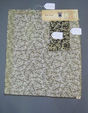 Onondaga Silk Company, Inc. (1925-1981). <em>Textile Swatches</em>, 1948-1959. 45% silk, 35% nylon, 20% metal, a: 20 1/2 x 18 in. (52.1 x 45.7 cm). Brooklyn Museum, Gift of the Onondaga Silk Company, 64.130.274a-b (Photo: Brooklyn Museum, CUR.64.130.274a-b.jpg)