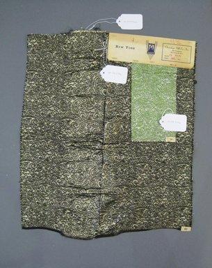 Onondaga Silk Company, Inc. (1925-1981). <em>Textile Swatches</em>, 1948-1959. 47% silk, 36% nylon, 17% metal, a: 21 x 17 in. (53.3 x 43.2 cm). Brooklyn Museum, Gift of the Onondaga Silk Company, 64.130.277a-b (Photo: Brooklyn Museum, CUR.64.130.277a-b.jpg)