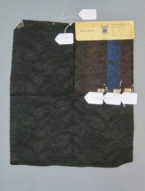 Onondaga Silk Company, Inc. (1925-1981). <em>Textile Swatches</em>, 1948-1959. 67% silk, 10% metal, 23% nylon, a: 21 x 18 1/2 in. (53.3 x 47 cm). Brooklyn Museum, Gift of the Onondaga Silk Company, 64.130.281a-d (Photo: Brooklyn Museum, CUR.64.130.281a-d.jpg)