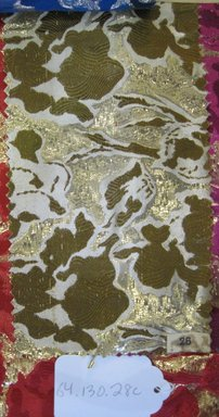 Onondaga Silk Company, Inc. (1925-1981). <em>Textile Swatches</em>, 1948-1959. silk; metal, (a) - (e): 8 1/2 x 4 1/2 in. (21.6 x 11.4 cm). Brooklyn Museum, Gift of the Onondaga Silk Company, 64.130.28a-f (Photo: Brooklyn Museum, CUR.64.130.28c.jpg)