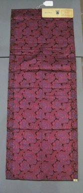 Onondaga Silk Company, Inc. (1925-1981). <em>Textile Swatches</em>, 1948-1959. Silk, 46 3/4 x 17 3/4 in. (118.7 x 45.1 cm). Brooklyn Museum, Gift of the Onondaga Silk Company, 64.130.292 (Photo: Brooklyn Museum, CUR.64.130.292.jpg)