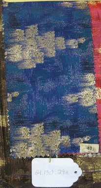 Onondaga Silk Company, Inc. (1925-1981). <em>Textile Swatches</em>, 1948-1959. silk; metal, (a) - (d): 9 x 5 in. (22.9 x 12.7 cm). Brooklyn Museum, Gift of the Onondaga Silk Company, 64.130.29a-e (Photo: Brooklyn Museum, CUR.64.130.29a.jpg)