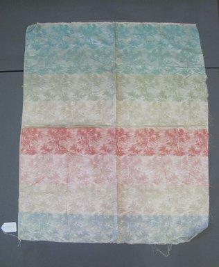 Onondaga Silk Company, Inc. (1925-1981). <em>Textile Swatches</em>, 1948-1959. Silk, 40 x 34 in. (101.6 x 86.4 cm). Brooklyn Museum, Gift of the Onondaga Silk Company, 64.130.303 (Photo: Brooklyn Museum, CUR.64.130.303.jpg)