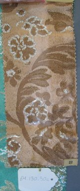 Onondaga Silk Company, Inc. (1925-1981). <em>Textile Swatches</em>, 1948-1959. 65% silk; 35% metal, (a) - (c): 11 1/2 x 5 in. (29.2 x 12.7 cm). Brooklyn Museum, Gift of the Onondaga Silk Company, 64.130.30a-d (Photo: Brooklyn Museum, CUR.64.130.30c.jpg)