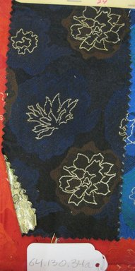 Onondaga Silk Company, Inc. (1925-1981). <em>Textile Swatches</em>, 1948-1959. 72% silk; 28% metal, (a) - (d): 8 x 4 in. (20.3 x 10.2 cm). Brooklyn Museum, Gift of the Onondaga Silk Company, 64.130.34a-e (Photo: Brooklyn Museum, CUR.64.130.34a.jpg)
