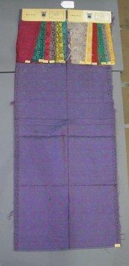 Onondaga Silk Company, Inc. (1925-1981). <em>Textile Swatches</em>, 1948-1959. Silk, 46 1/2 x 19 in. (118.1 x 48.3 cm). Brooklyn Museum, Gift of the Onondaga Silk Company, 64.130.350 (Photo: Brooklyn Museum, CUR.64.130.350.jpg)