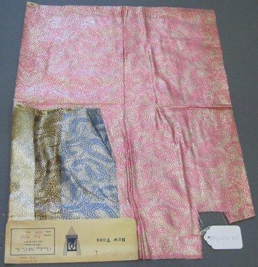 Onondaga Silk Company, Inc. (1925-1981). <em>Textile Swatches</em>, 1948-1959. 81% silk; 19% metal, (a) - (c): 9 x 4 in. (22.9 x 10.2 cm). Brooklyn Museum, Gift of the Onondaga Silk Company, 64.130.35a-d (Photo: Brooklyn Museum, CUR.64.130.35d.jpg)