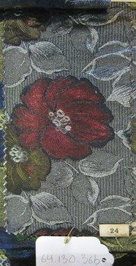 Onondaga Silk Company, Inc. (1925-1981). <em>Textile Swatches</em>, 1948-1959. 34% Rayon; 34% Nylon; 32% silk, (a) - (e): 8 1/2 x 4 1/2 in. (21.6 x 11.4 cm). Brooklyn Museum, Gift of the Onondaga Silk Company, 64.130.36a-f (Photo: Brooklyn Museum, CUR.64.130.36b.jpg)