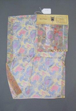 Onondaga Silk Company, Inc. (1925-1981). <em>Textile Swatches</em>, 1948-1959. Silk, 23 1/2 x 17 in. (59.7 x 43.2 cm). Brooklyn Museum, Gift of the Onondaga Silk Company, 64.130.380 (Photo: Brooklyn Museum, CUR.64.130.380.jpg)