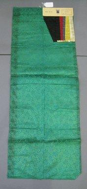 Onondaga Silk Company, Inc. (1925-1981). <em>Textile Swatches</em>, 1948-1959. Silk, 47 x 17 3/4 in. (119.4 x 45.1 cm). Brooklyn Museum, Gift of the Onondaga Silk Company, 64.130.393 (Photo: Brooklyn Museum, CUR.64.130.393.jpg)