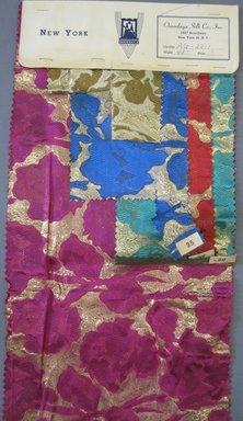 Onondaga Silk Company, Inc. (1925-1981). <em>Textile Swatches</em>, 1948-1959. Silk and metallic threads, a: 9 x 23 in. (22.9 x 58.4 cm). Brooklyn Museum, Gift of the Onondaga Silk Company, 64.130.3a-e (Photo: Brooklyn Museum, CUR.64.130.3a.jpg)