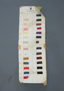 Onondaga Silk Company, Inc. (1925-1981). <em>Textile Swatches</em>, 1948-1959. Silk, paper, sheet: 25 x 8 1/2 in. (63.5 x 21.6 cm). Brooklyn Museum, Gift of the Onondaga Silk Company, 64.130.40 (Photo: Brooklyn Museum, CUR.64.130.40.jpg)