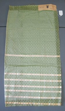 Onondaga Silk Company, Inc. (1925-1981). <em>Textile Swatches</em>, 1948-1959. Silk, metal, 44 1/2 x 23 1/2 in. (113 x 59.7 cm). Brooklyn Museum, Gift of the Onondaga Silk Company, 64.130.45 (Photo: Brooklyn Museum, CUR.64.130.45.jpg)