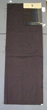 Onondaga Silk Company, Inc. (1925-1981). <em>Textile Swatches</em>, 1948-1959. 87% wool, 13% silk, a: 48 3/4 x 17 1/4 in. (123.8 x 43.8 cm). Brooklyn Museum, Gift of the Onondaga Silk Company, 64.130.46a-f (Photo: Brooklyn Museum, CUR.64.130.46a-f.jpg)