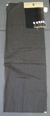 Onondaga Silk Company, Inc. (1925-1981). <em>Textile Swatches</em>, 1948-1959. 87% wool, 13% silk, a: 48 1/4 x 17 1/4 in. (122.6 x 43.8 cm). Brooklyn Museum, Gift of the Onondaga Silk Company, 64.130.47a-f (Photo: Brooklyn Museum, CUR.64.130.47a-f.jpg)