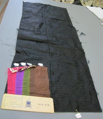 Onondaga Silk Company, Inc. (1925-1981). <em>Textile Swatches</em>, 1948-1959. silk, largest component (a): 48 x 18 in. (121.9 x 45.7 cm). Brooklyn Museum, Gift of the Onondaga Silk Company, 64.130.56a-e (Photo: Brooklyn Museum, CUR.64.130.56a-e.jpg)