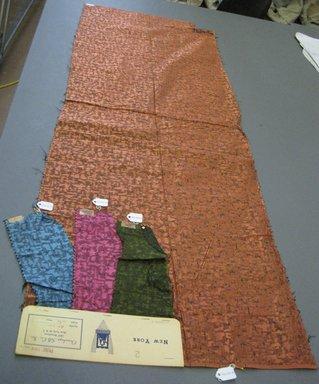 Onondaga Silk Company, Inc. (1925-1981). <em>Textile Swatches</em>, 1948-1959. silk, largest component (a): 48 x 17 in. (121.9 x 43.2 cm). Brooklyn Museum, Gift of the Onondaga Silk Company, 64.130.58a-d (Photo: Brooklyn Museum, CUR.64.130.58a-d.jpg)