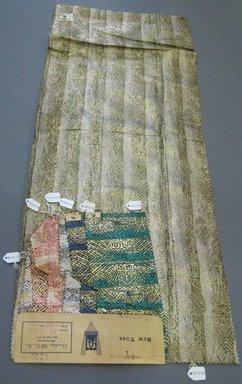 Onondaga Silk Company, Inc. (1925-1981). <em>Textile Swatches</em>, 1948-1959. 72% silk 28% metal, largest component (a): 36 x 14 in. (91.4 x 35.6 cm). Brooklyn Museum, Gift of the Onondaga Silk Company, 64.130.60a-g (Photo: Brooklyn Museum, CUR.64.130.60a-g.jpg)