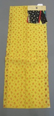 Onondaga Silk Company, Inc. (1925-1981). <em>Textile Swatches</em>, 1948-1959. Silk and metal, 47 1/4 x 18 in. (120 x 45.7 cm). Brooklyn Museum, Gift of the Onondaga Silk Company, 64.130.611 (Photo: Brooklyn Museum, CUR.64.130.611.jpg)