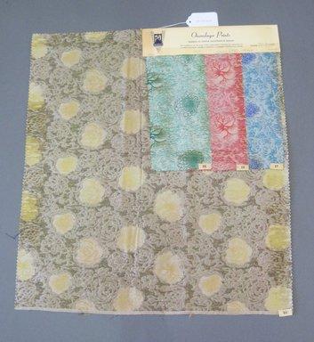 Onondaga Silk Company, Inc. (1925-1981). <em>Textile Swatches</em>, 1948-1959. 87% wool, 13% silk, 47 1/2 x 16 3/4 in. (120.7 x 42.5 cm). Brooklyn Museum, Gift of the Onondaga Silk Company, 64.130.613 (Photo: Brooklyn Museum, CUR.64.130.613.jpg)