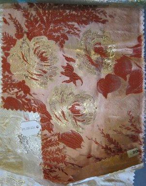 Onondaga Silk Company, Inc. (1925-1981). <em>Textile Swatches</em>, 1948-1959. silk; metal, largest component (a): 47 x 18 in. (119.4 x 45.7 cm). Brooklyn Museum, Gift of the Onondaga Silk Company, 64.130.62a-d (Photo: Brooklyn Museum, CUR.64.130.62b.jpg)