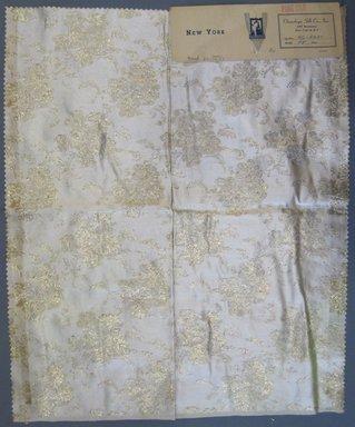 Onondaga Silk Company, Inc. (1925-1981). <em>Textile Swatches</em>, 1948-1959. silk; metal, 22 x 18 in. (55.9 x 45.7 cm). Brooklyn Museum, Gift of the Onondaga Silk Company, 64.130.63 (Photo: Brooklyn Museum, CUR.64.130.63.jpg)