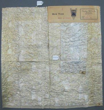 Onondaga Silk Company, Inc. (1925-1981). <em>Textile Swatches</em>, 1948-1959. silk; metal, largest component (a): 18 x 18 in. (45.7 x 45.7 cm). Brooklyn Museum, Gift of the Onondaga Silk Company, 64.130.67 (Photo: Brooklyn Museum, CUR.64.130.67a-b.jpg)