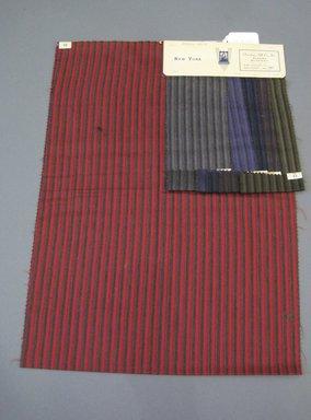 Onondaga Silk Company, Inc. (1925-1981). <em>Textile Swatches</em>, 1948-1959. 87% wool, 13% silk, 23 1/2 x 17 in. (59.7 x 43.2 cm). Brooklyn Museum, Gift of the Onondaga Silk Company, 64.130.682 (Photo: Brooklyn Museum, CUR.64.130.682.jpg)