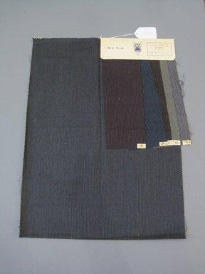 Onondaga Silk Company, Inc. (1925-1981). <em>Textile Swatches</em>, 1948-1959. 87% wool, 13% silk, 23 1/4 x 17 1/2 in. (59.1 x 44.5 cm). Brooklyn Museum, Gift of the Onondaga Silk Company, 64.130.686 (Photo: Brooklyn Museum, CUR.64.130.686.jpg)