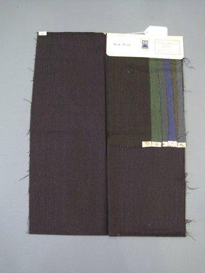 Onondaga Silk Company, Inc. (1925-1981). <em>Textile Swatches</em>, 1948-1959. 87% wool, 13% silk, 23 x 17 in. (58.4 x 43.2 cm). Brooklyn Museum, Gift of the Onondaga Silk Company, 64.130.687 (Photo: Brooklyn Museum, CUR.64.130.687.jpg)