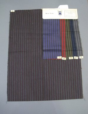 Onondaga Silk Company, Inc. (1925-1981). <em>Textile Swatches</em>, 1948-1959. 87% wool, 13% silk, 22 1/4 x 17 in. (56.5 x 43.2 cm). Brooklyn Museum, Gift of the Onondaga Silk Company, 64.130.688 (Photo: Brooklyn Museum, CUR.64.130.688.jpg)